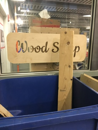 wood shop in the ground level of E-14