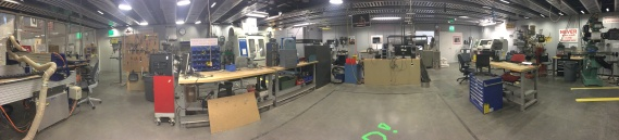 an extensive machine shop also on the ground level of E-14