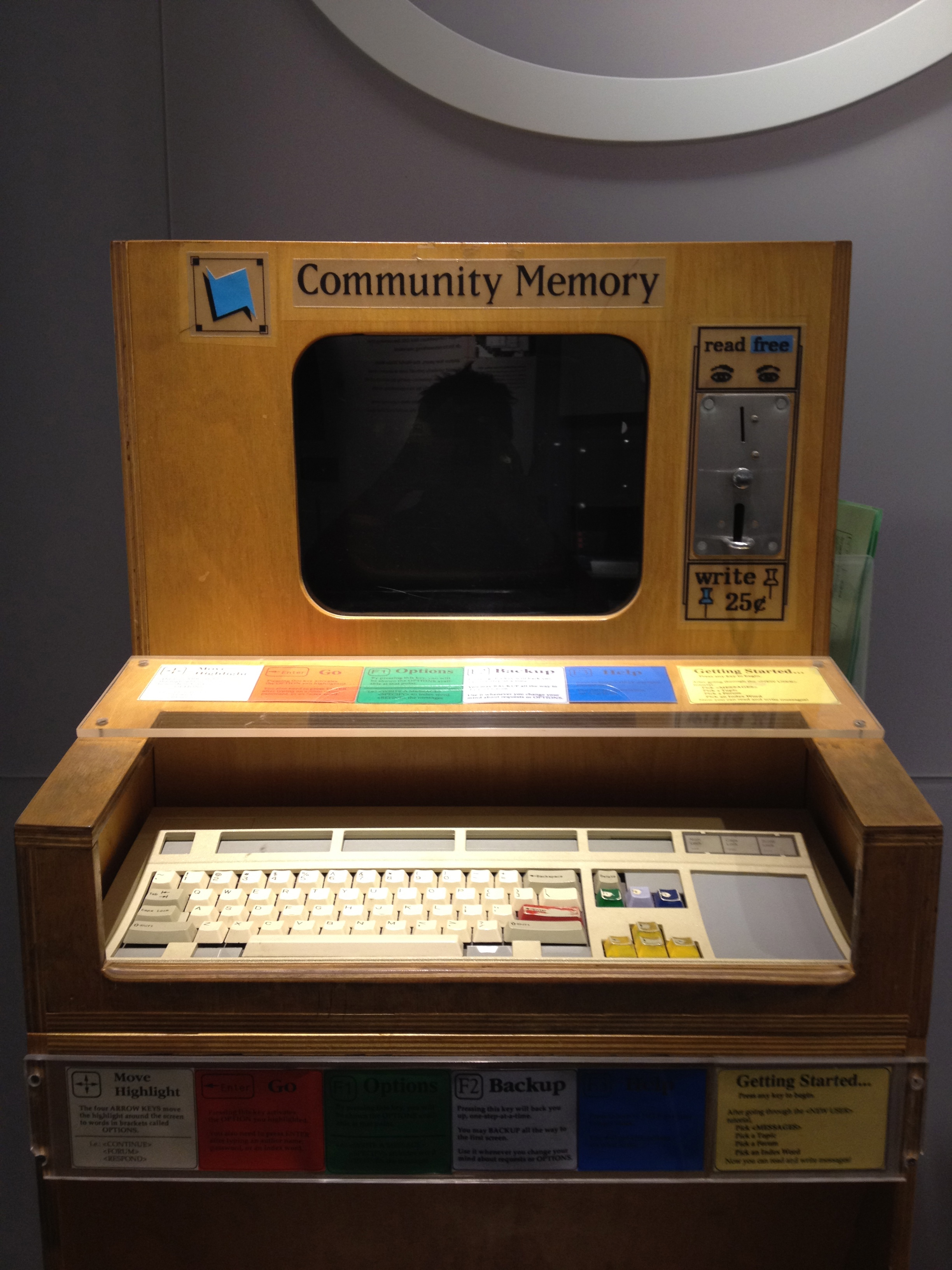 Community Memory teletype machine