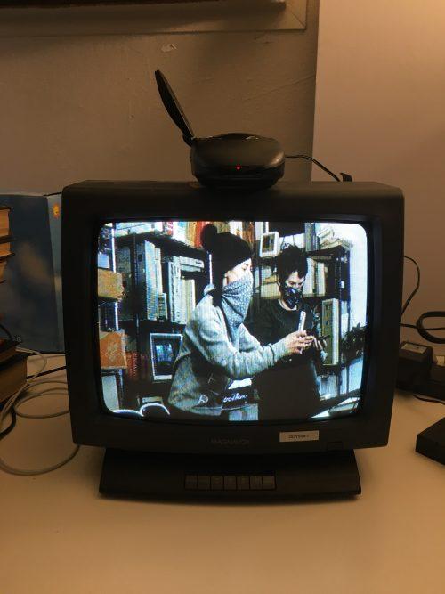 TV broadcast of Lori Emerson and libi striegl broadcasting